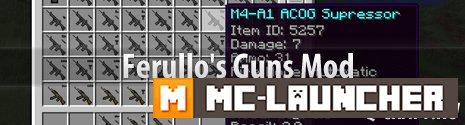 Ferullo's Guns Mod (1.4.7) - Моды на Майнкрафт